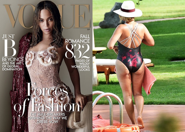 Beyonce On the cover and in the real life