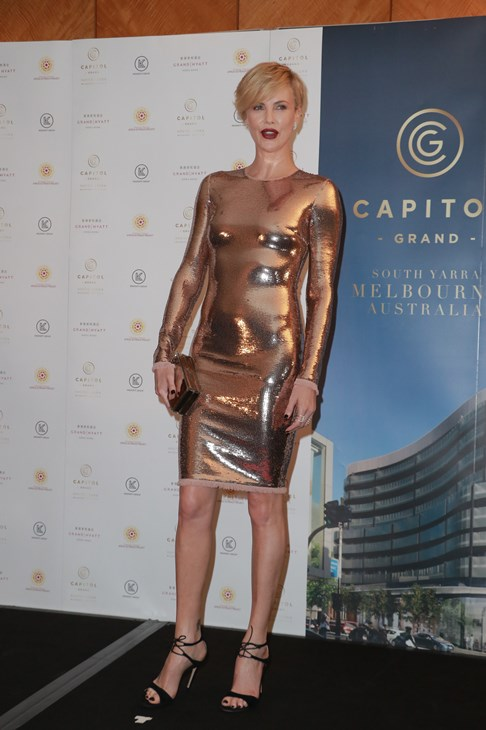 Charlize Theron metal dress