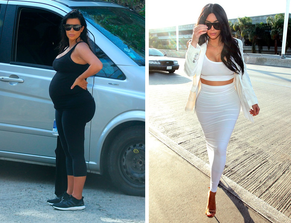 Kim Kardashian 8 months pregnant gained 52 pounds