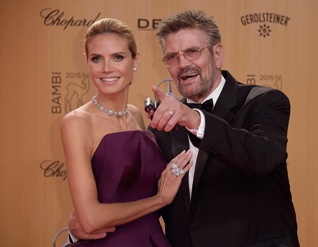 Heidi Klum and Günther Klum