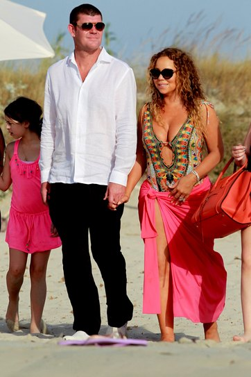 Mariah Carey with Australian billionaire James Packer