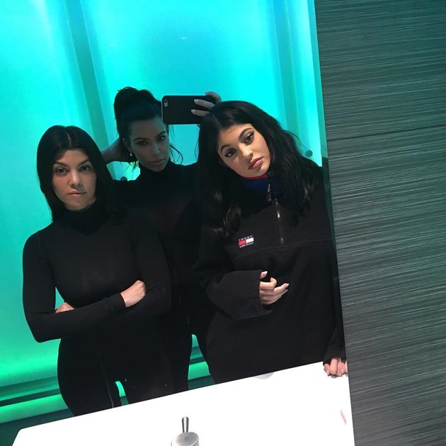 Kim Kardashian and her sisters 2016