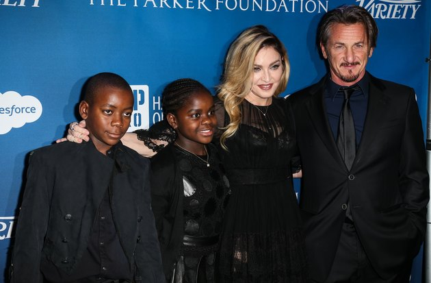 Sean Penn came out with Madonna and her adoptive children