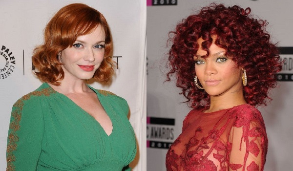 Red haired celebrities