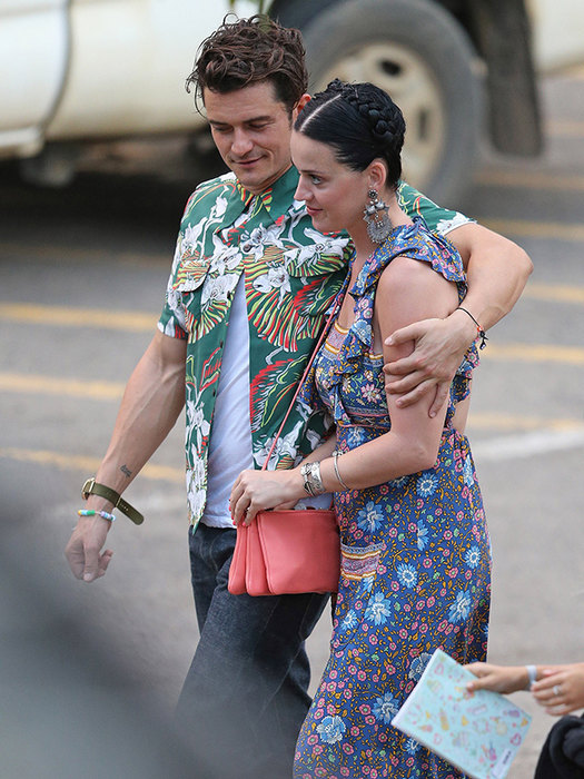 Orlando Bloom and Katy Perry preparing for a wedding