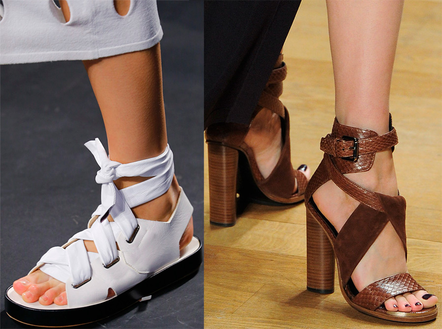 What are the sandals trends in spring 2016