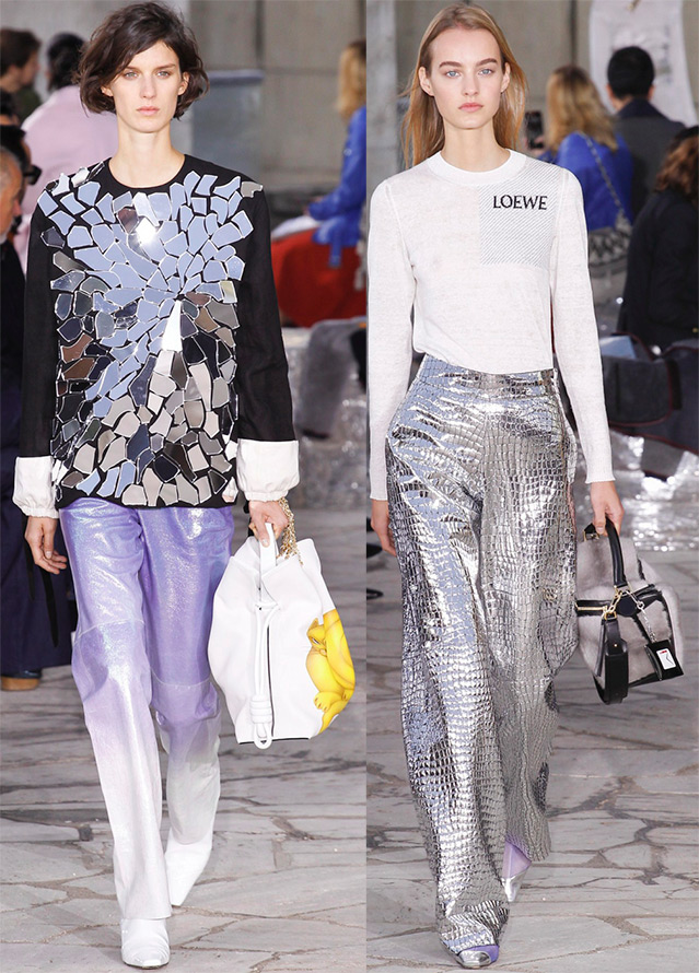 Futurism and silver shine fashion trends 2016
