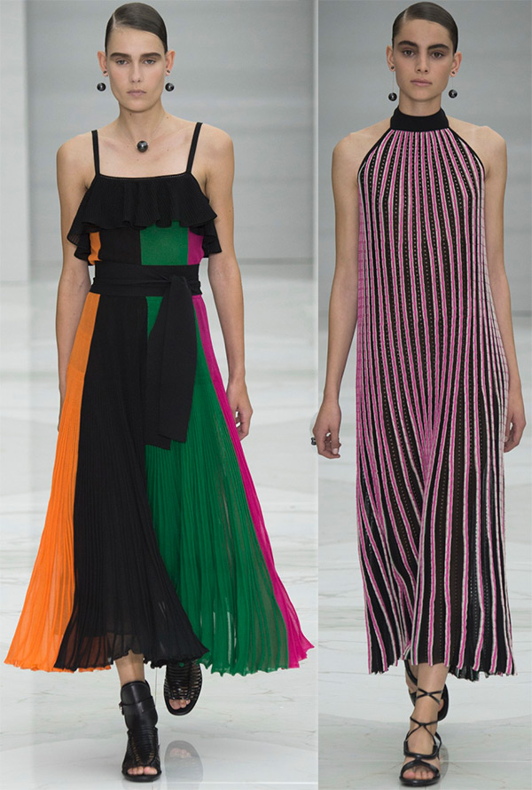 long elegant with vertical stripes
