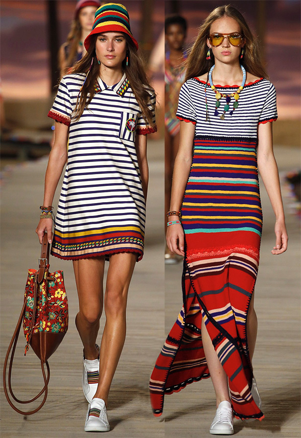 Summer dresses with horizontal stripes