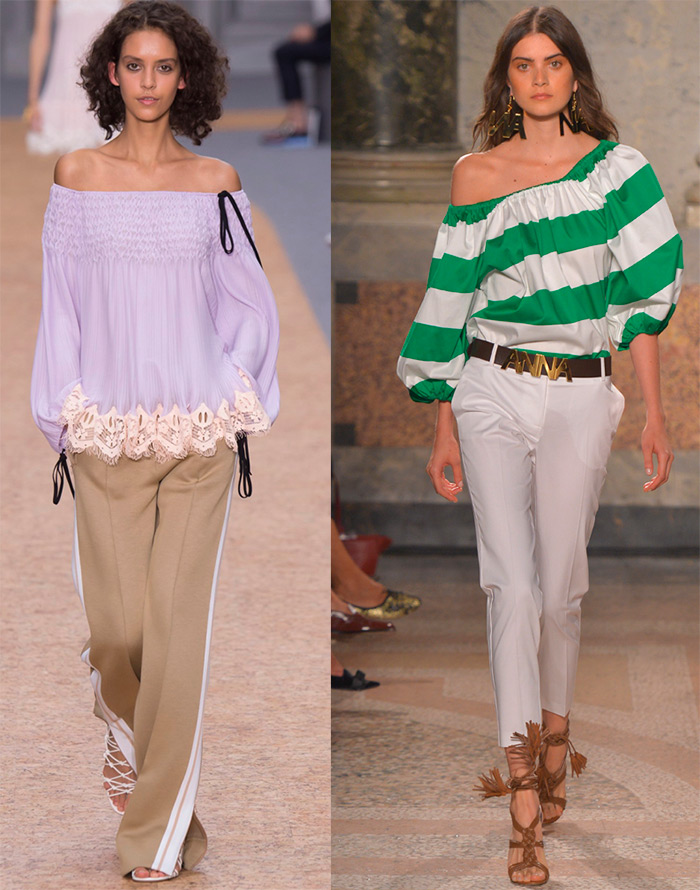 Blouse with bare shoulders Spring Summer 2016