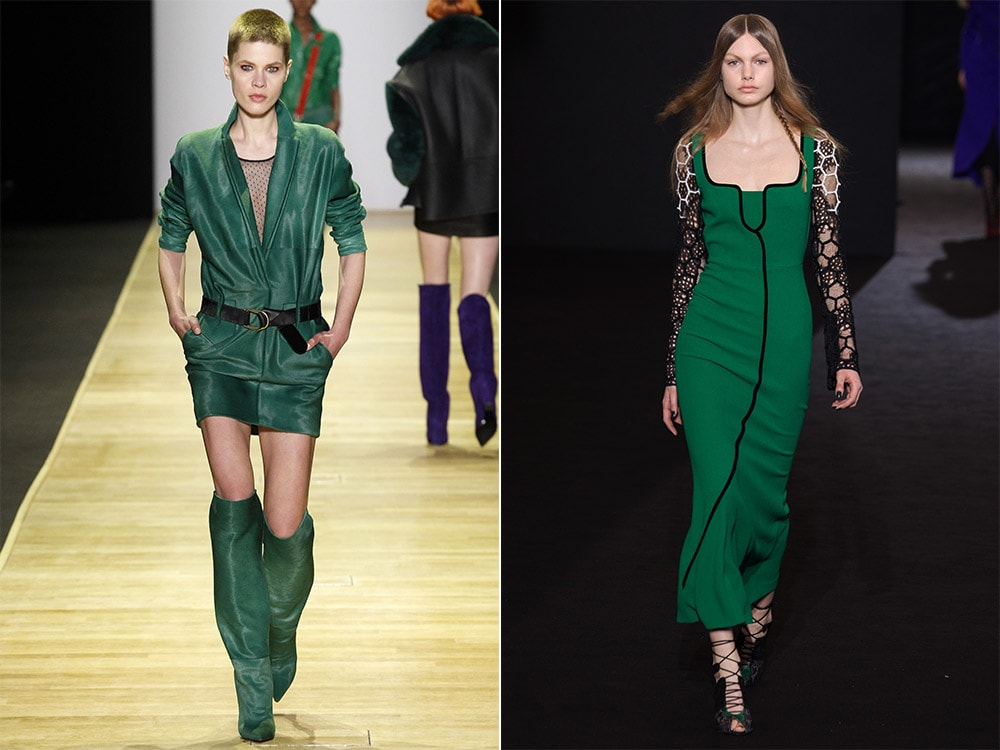 What colors to wear in Fall Winter 2016 2017: green