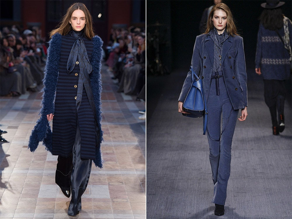 What are the color trends fall winter 2016-2017: dark blue