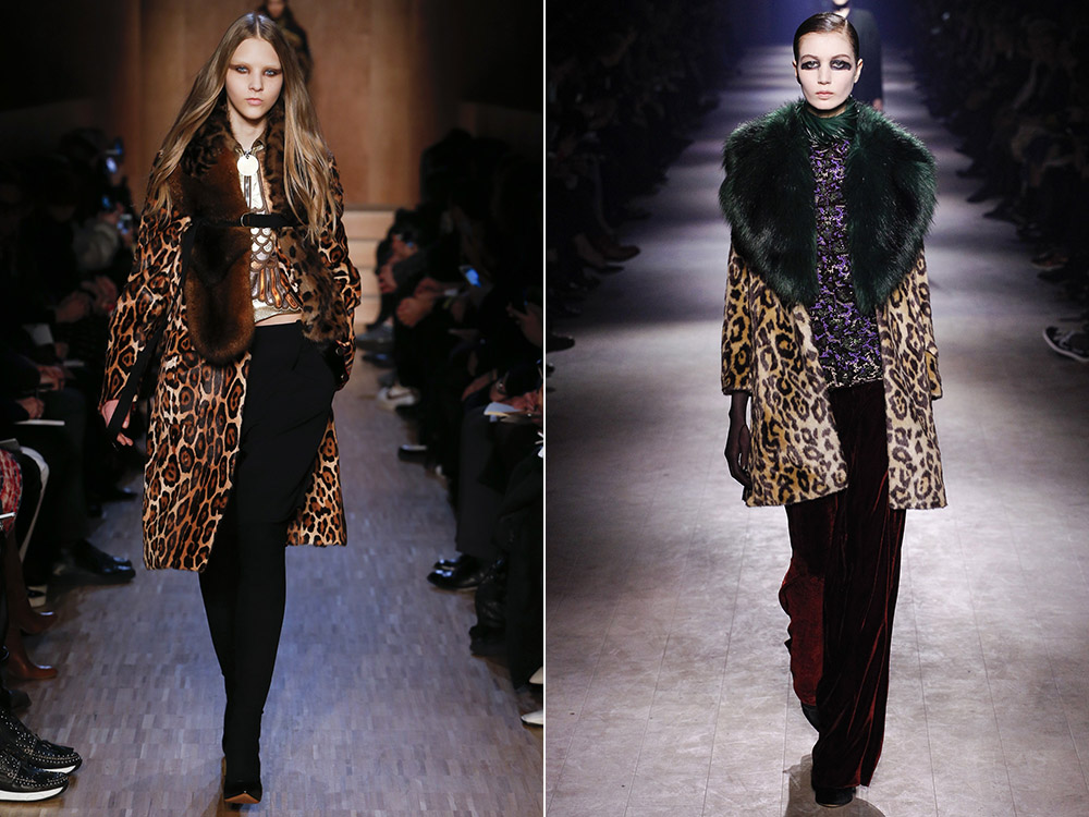 Women animal printed coats