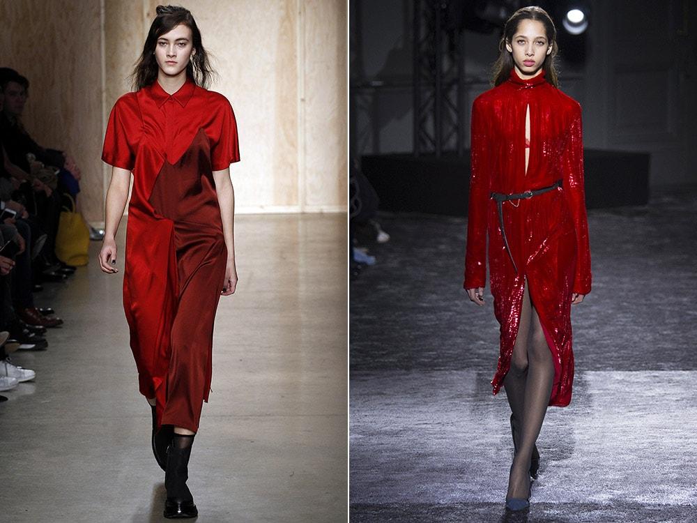 Картинки по запросу red dress fall winter 2017