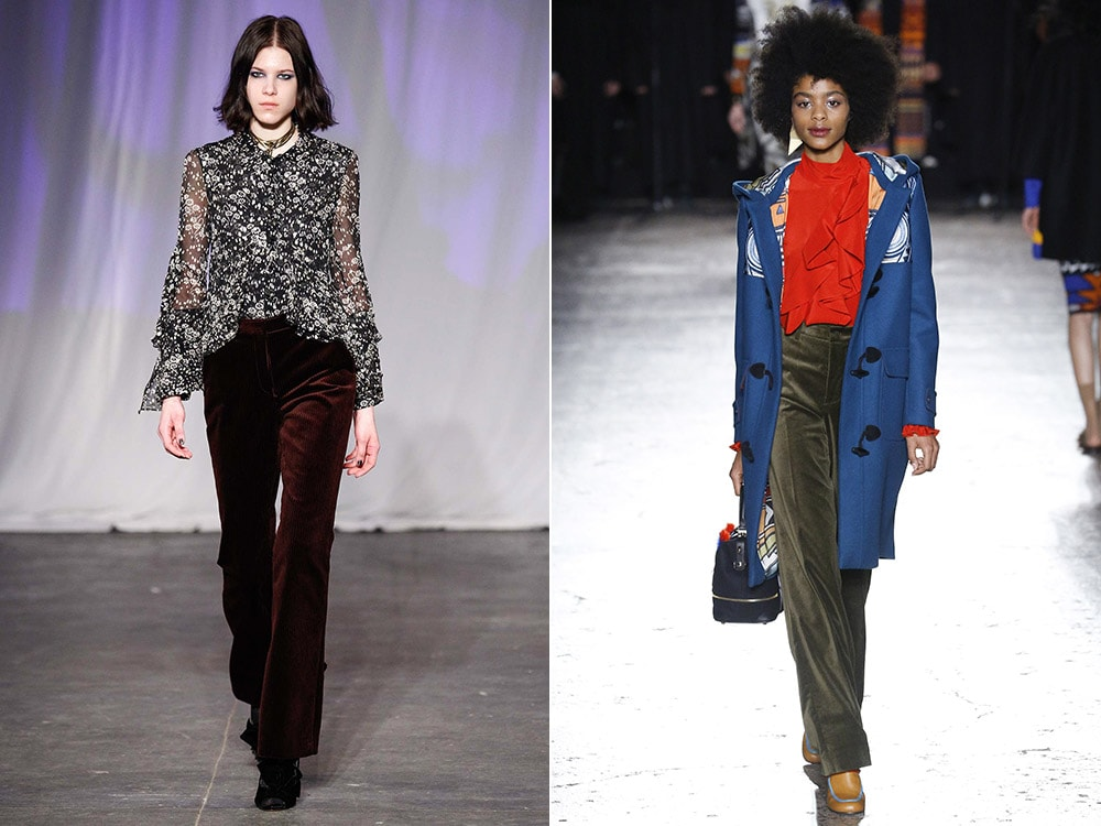 Velvet pants for fall