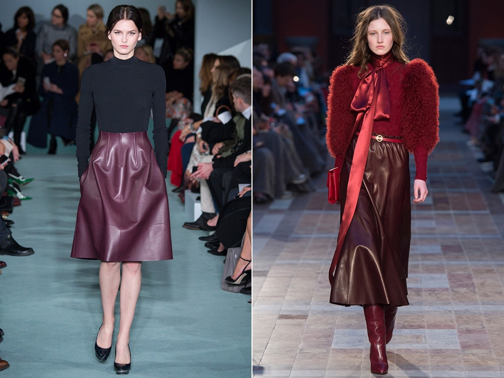 Leather skirts fall winter 2016 2017