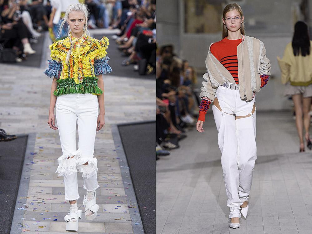 White women jeans