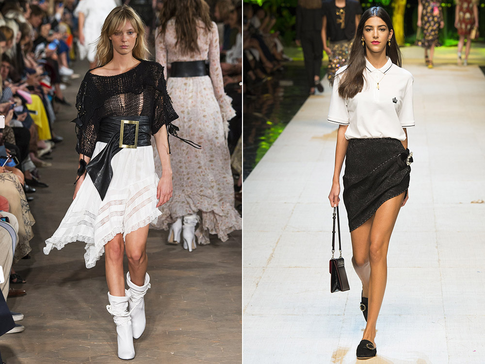 Asymmetric skirts designs 2017
