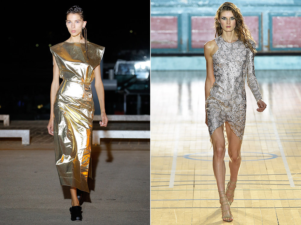 Metallic Dresses 2017 fall winter
