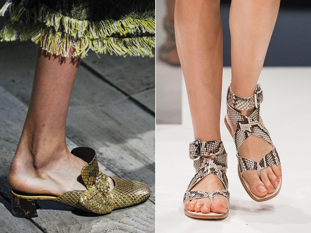Footwear 2017 spring summer reptile skin