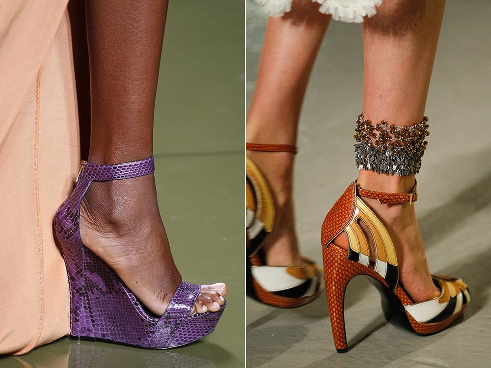 comfortable reptile skin heel