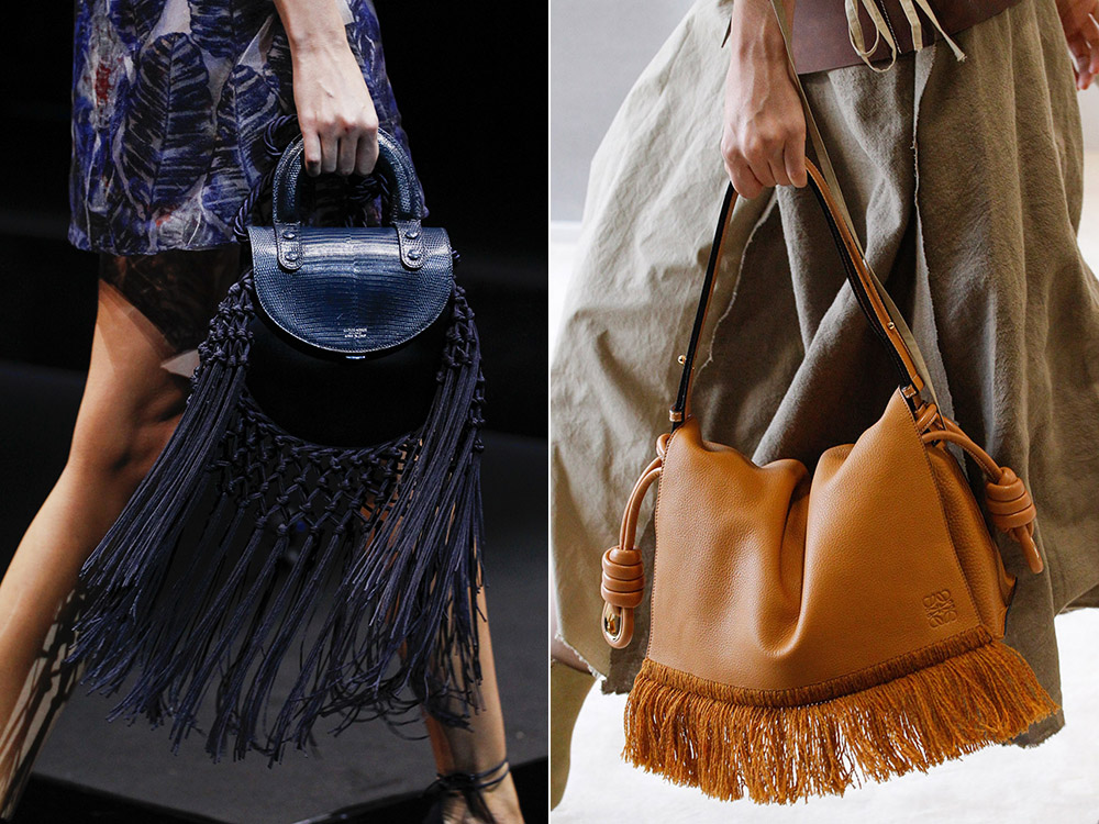 leather with fringes
