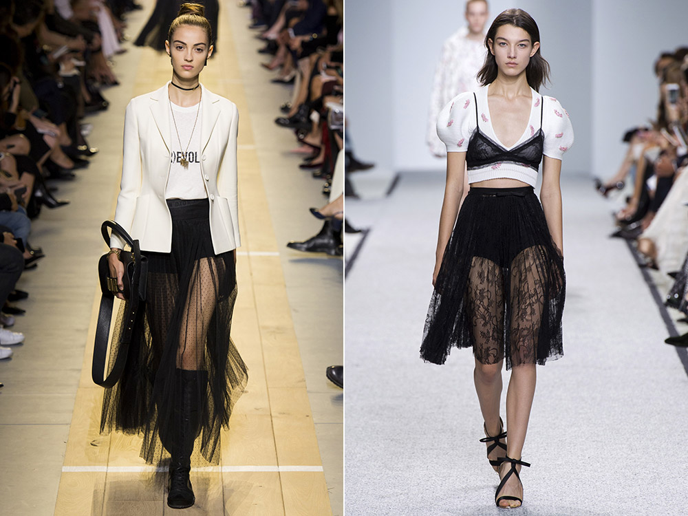 Black transparent Skirts 2017