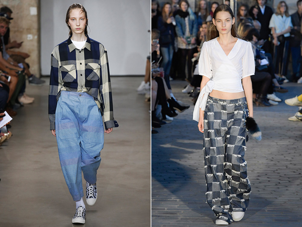 Oversize jeans designs