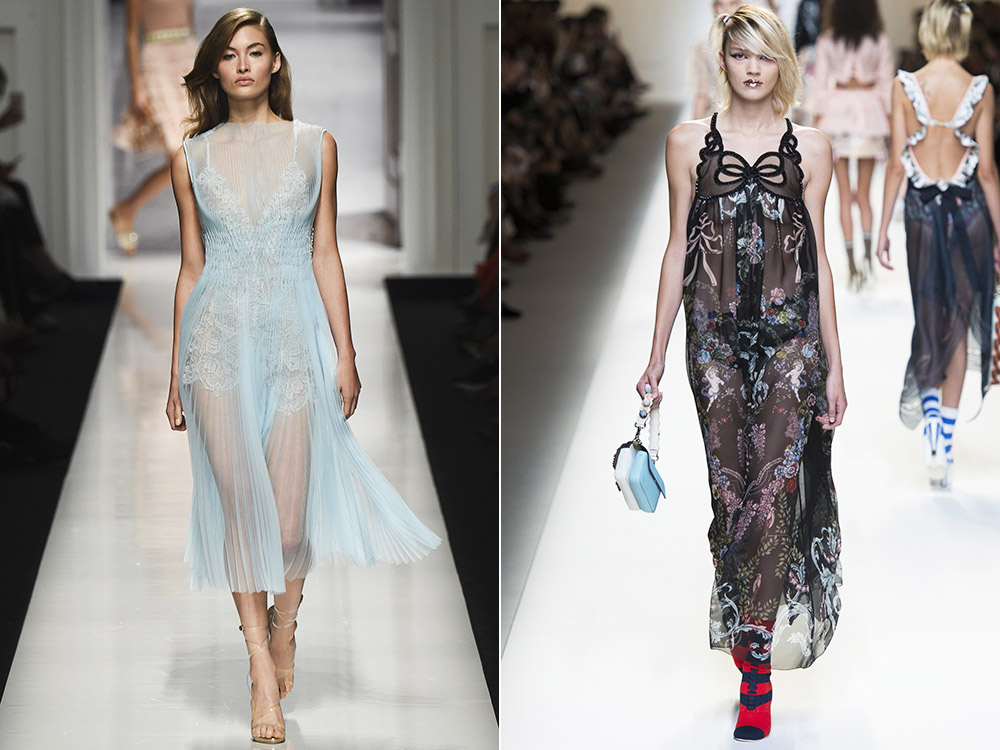 Transparent dresses spring summer 2017