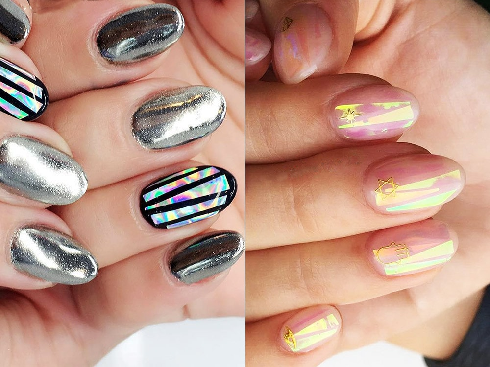 gel nail designs 2017 shattered glass
