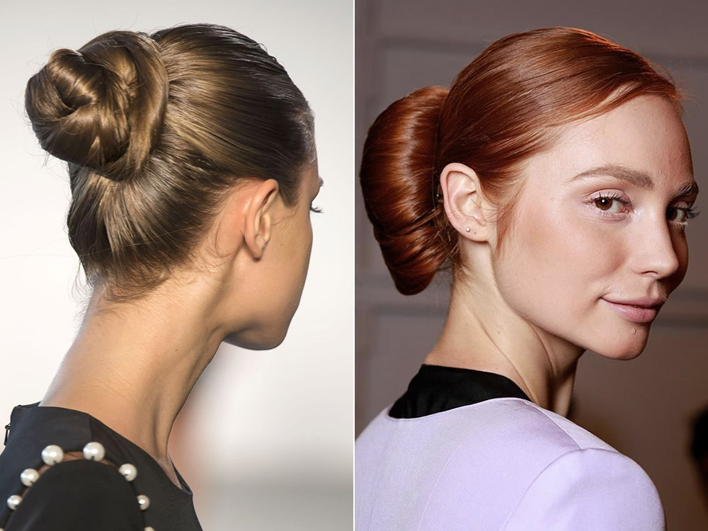 Hair bun hairstyles spring-summer 2017
