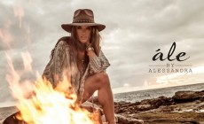Alessandra Ambrosio appeared in a new campaign of her own brand Ale