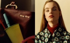 Miu Miu showed off a new advertising campaign