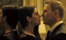 "Monica Bellucci is passionately kissing Daniel Craig in the trailer for the new ""Bond"""