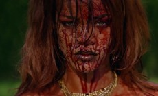 The nude and bloodied Rihanna appeared in the new video