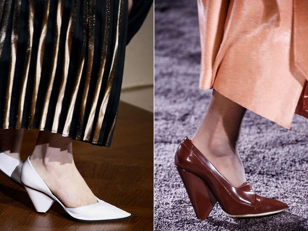 Medium heeled shoes with pointy toe