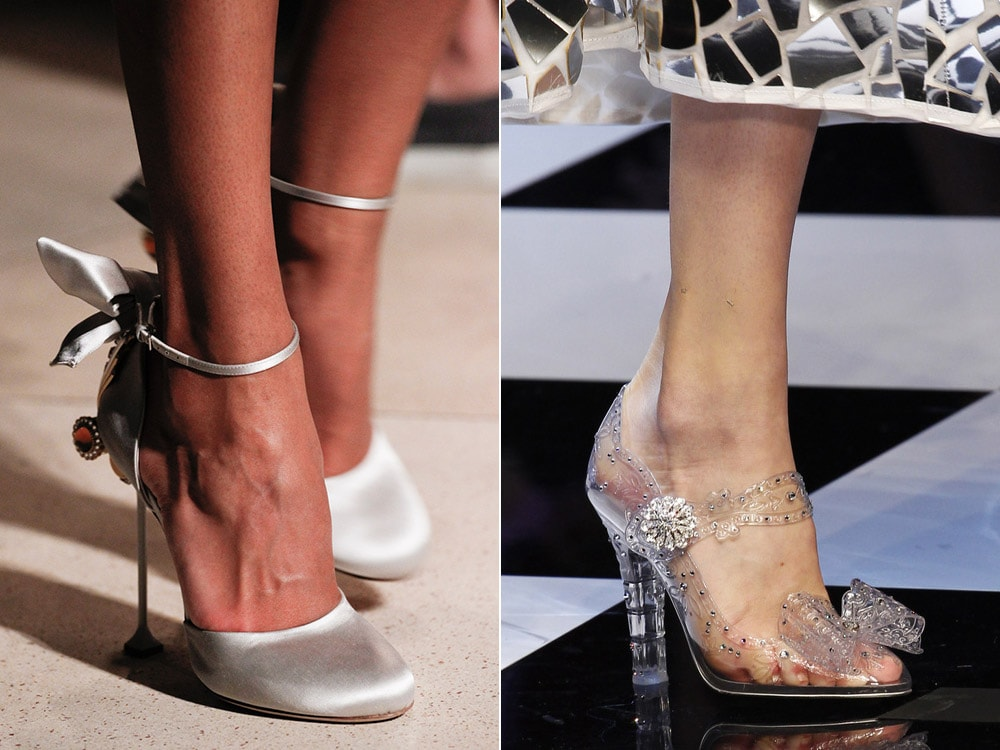 Medium heeled shoes with strap