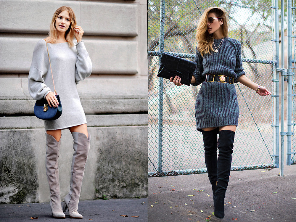 What To Wear With Over The Knee Boots Fashion Style
